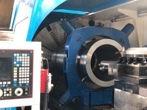 CNC Drehen von Großteilen, hier Neubau einer Lehmkammer für eine Paul Wurth Stopfmaschine vom Hochofen